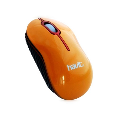 HAVIT Wired Optical Mouse [HV-MS232] - Orange - Mouse Basic